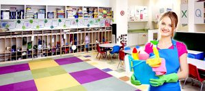 hợp đồng dọn vệ sinh trường học